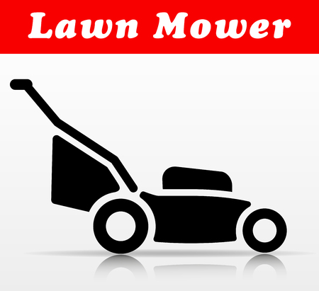 Illustration of lawn mower vector icon design Vettoriali