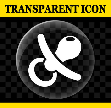 Illustration of pacifier vector circle transparent icon