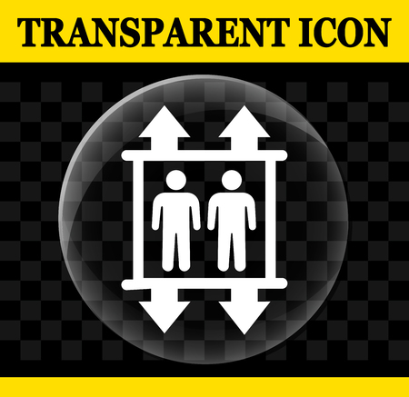 Illustration of transparent elevator vector circle icon 向量圖像