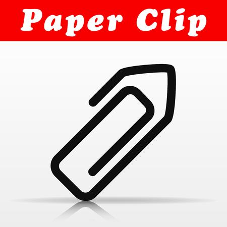 Illustration of paper clip vector icon design