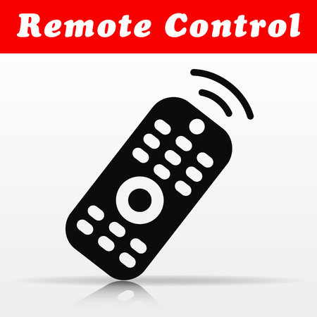 Illustration of remote control vector icon design