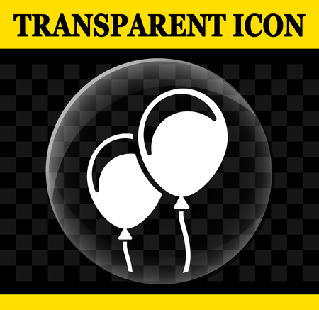 Illustration of balloons vector circle transparent icon Çizim