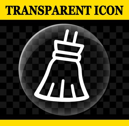 Illustration of broom vector circle transparent icon