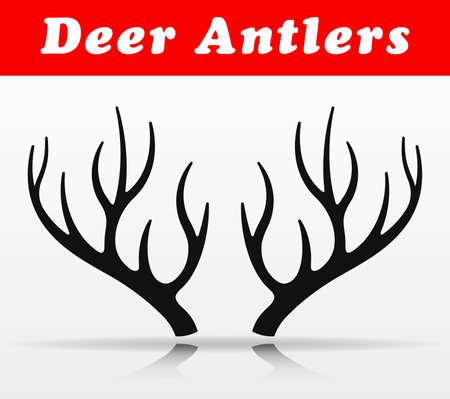 Illustration of black deer antlers vector design