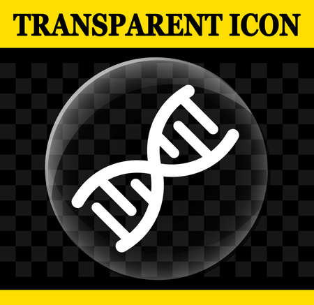 Illustration of dna vector circle transparent icon