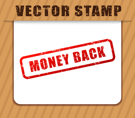 Illustration of money back red word buffered Archivio Fotografico - 105602438
