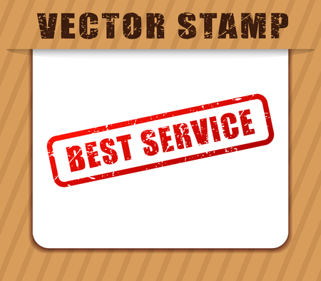 Illustration of best servicer red words buffered