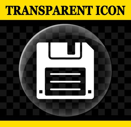 Illustration of floppy disc vector transparent icon