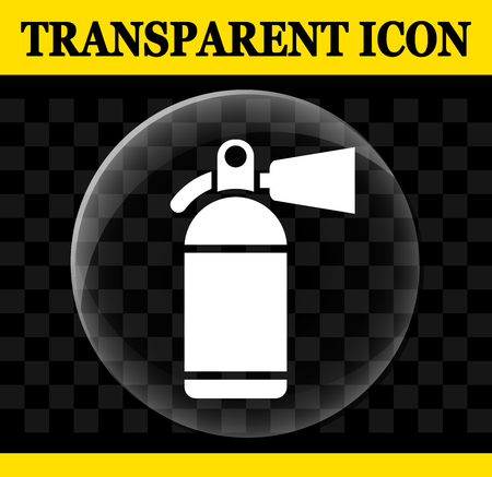 Illustration of fire extinguisher vector transparent icon Vectores