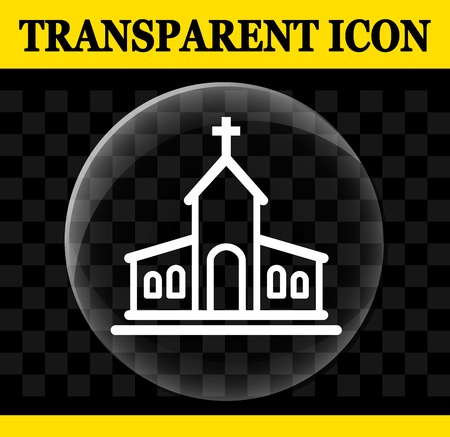 Illustration of church vector circle transparent icon
