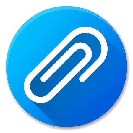 Illustration of paper clip blue circle icon Ilustrace