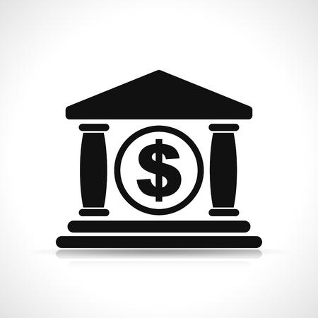 Illustration of bank icon on white background 向量圖像