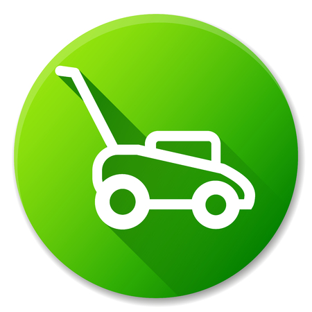 Illustration of lawn mower circle icon design