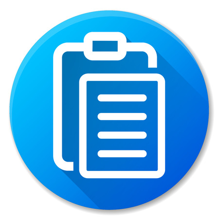 Illustration of report blue circle icon design