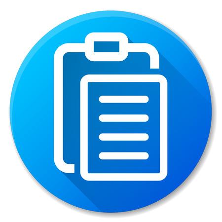 Illustration of report blue circle icon design