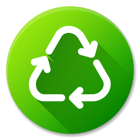 Vector illustration of recycle green circle icon design
