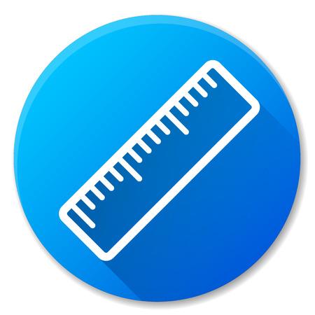 Illustration of ruler blue circle icon design