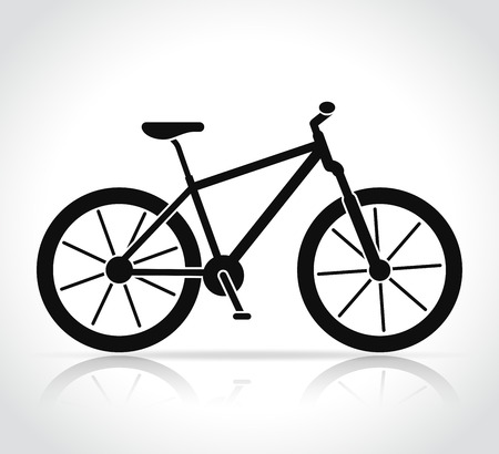 Vector mountain bike icon on white background