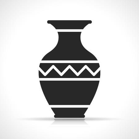 Illustration de l'icône de vase sur fond blanc