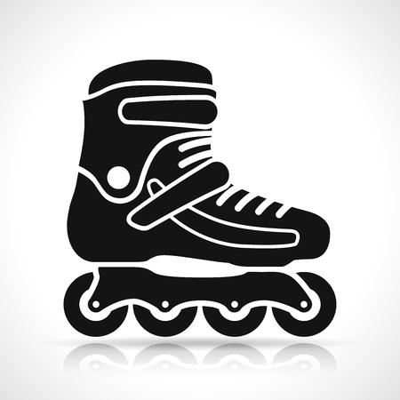 Illustrazione del pattino a rotelle su sfondo bianco Vettoriali