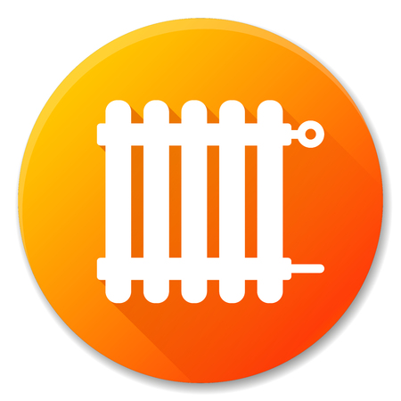Vector illustration of radiator orange circle icon design Vettoriali