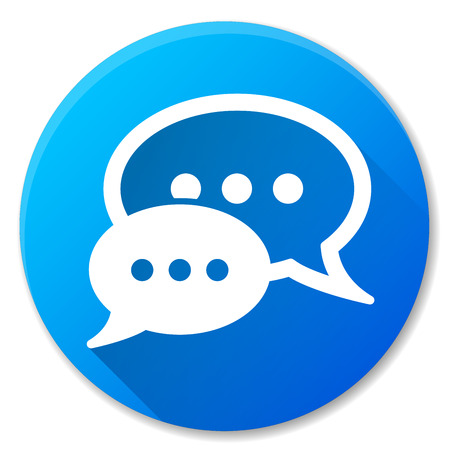 Illustration of speech blue circle icon design