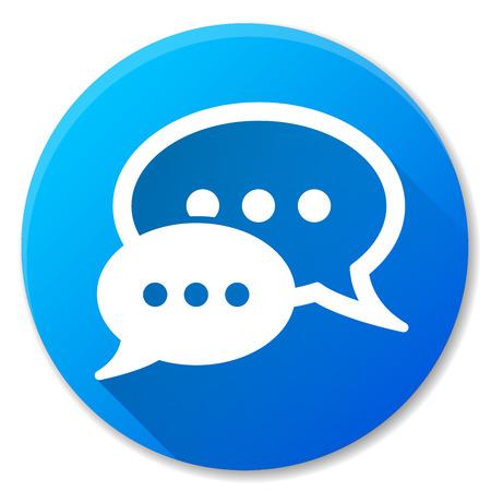Illustrazione del disegno dell'icona del cerchio blu di discorso Vettoriali