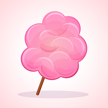 Vektorillustration der rosa Zuckerwatte-Ikone Vektorgrafik
