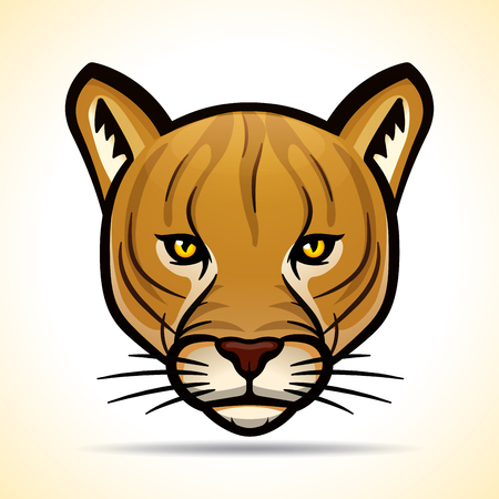Vector illustration of cougar head graphic design Illustration