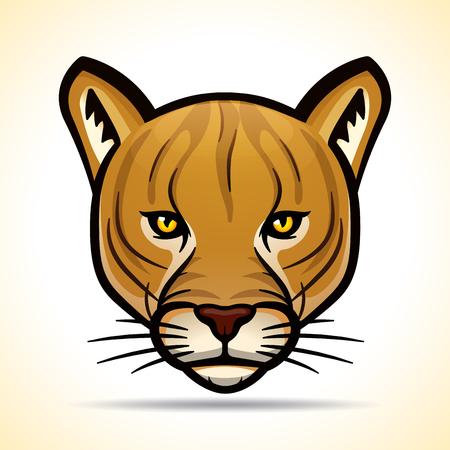 Vector illustration of cougar head graphic design Illusztráció