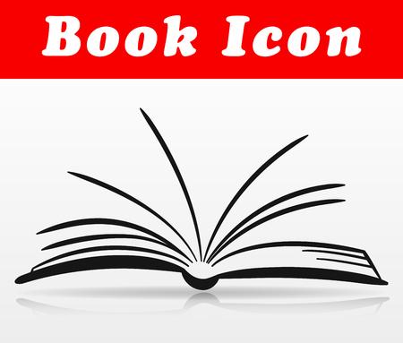 Diseño de icono de libro de vector sobre fondo blanco Ilustración de vector