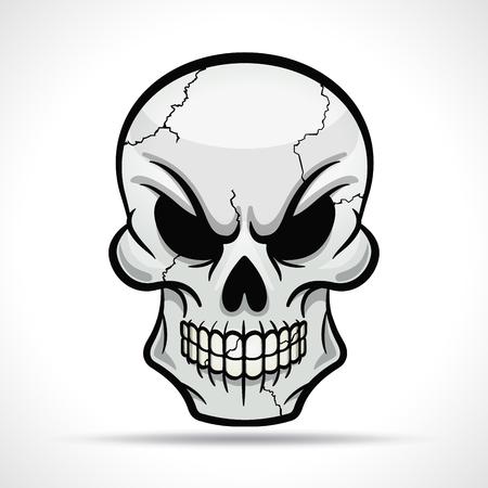Vector illustration of skull on white background Illustration
