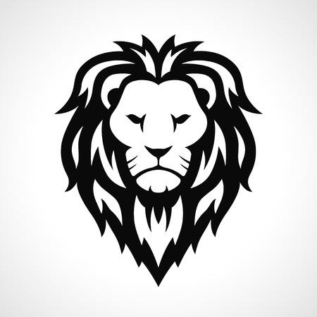 Vector lion icon design on white background