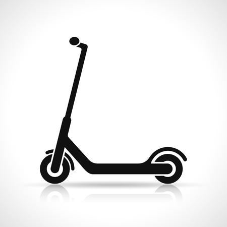 Wektor skuter ikona designu na białym tle