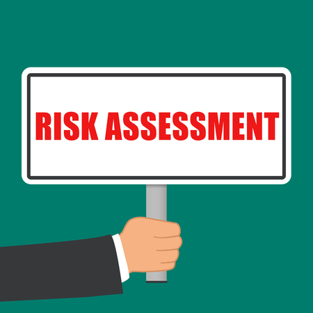 Illustration of risk assessment sign flat concept