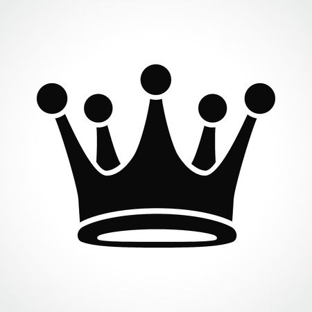 Vector illustration of crown icon black design