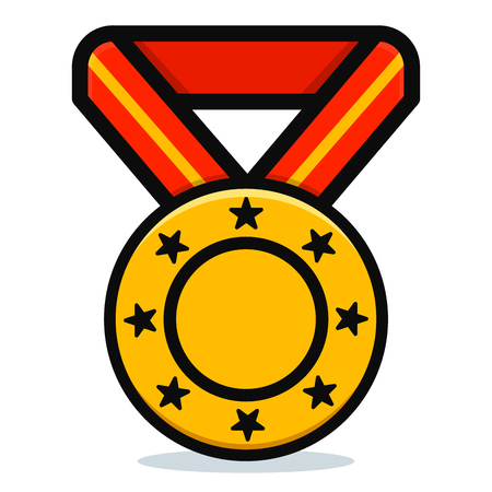 Vector illustration of medal on white background Ilustração