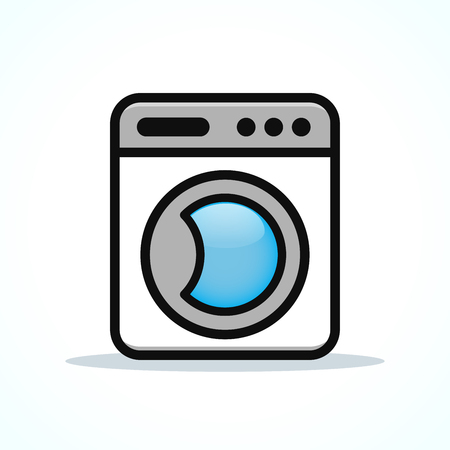 Vector illustration of washing machine design clipart