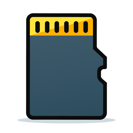 Vector illustration of memory card icon design