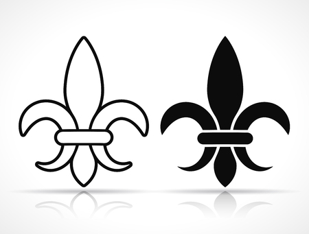 Vector illustration of royal french lily icons