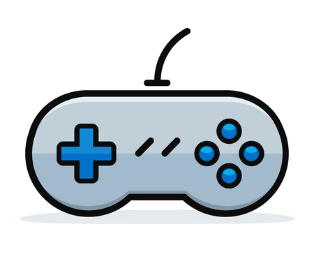 Vector illustration of game controller design concept