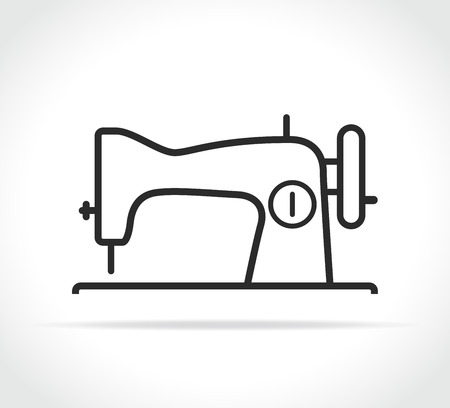 Vector illustration of sewing machine line icon