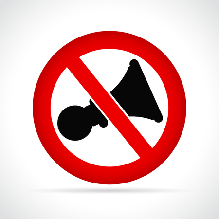 Vector illustration of no noise circle icon