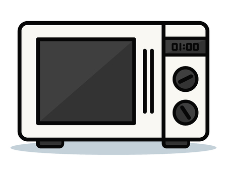 Vector illustration of oven on white background