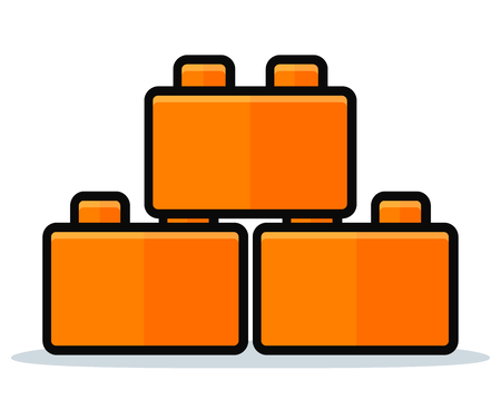 Vector illustration of toy blocks icon design