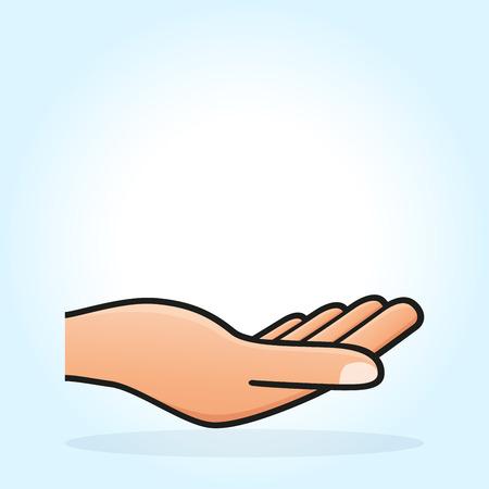 Illustration vectorielle de la conception de la main ouverte