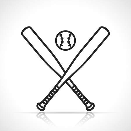 Vector illustration of baseball or softball icon