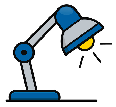 Vector illustration of desk lamp icon design Ilustração