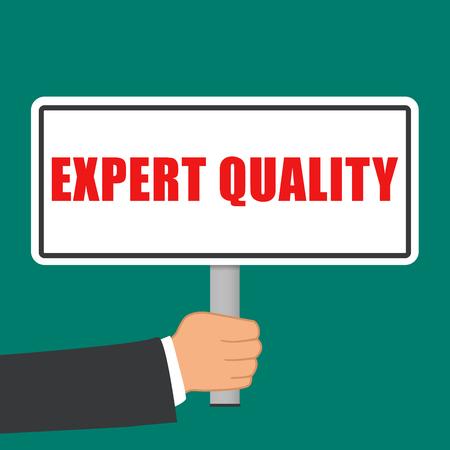 Illustration of expert quality sign flat concept  イラスト・ベクター素材