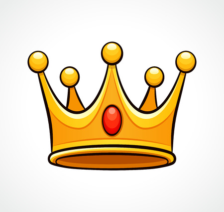 Vector illustration of crown on white background